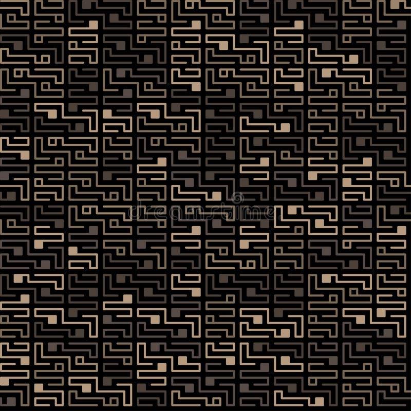 Картина обломока вектора безшовная на темной предпосылке бесплатная иллюстрация