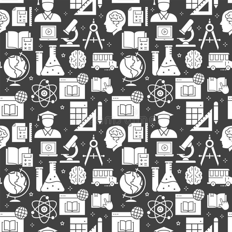 Картина образования безшовная со значками r иллюстрация штока