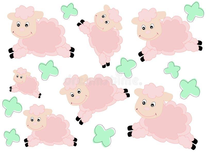 картина овечек иллюстрация штока