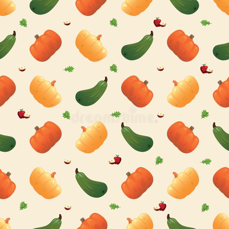 Картина овоща безшовная Вегетарианский набор продуктов рынка фермы бесплатная иллюстрация