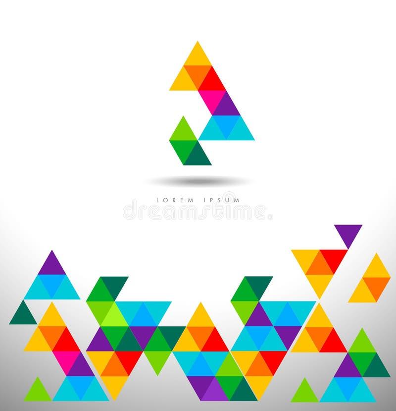 Картина логотипа треугольников иллюстрация вектора