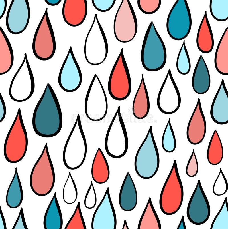 Картина дождливого дня абстрактная предпосылка иллюстрация вектора