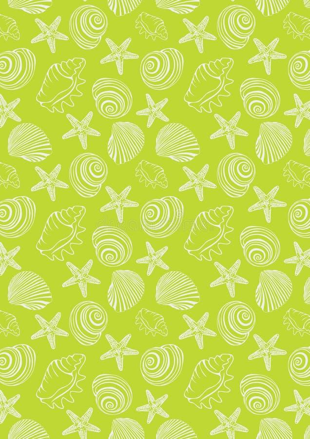 Картина океана в неоновой зеленой предпосылке стоковая фотография