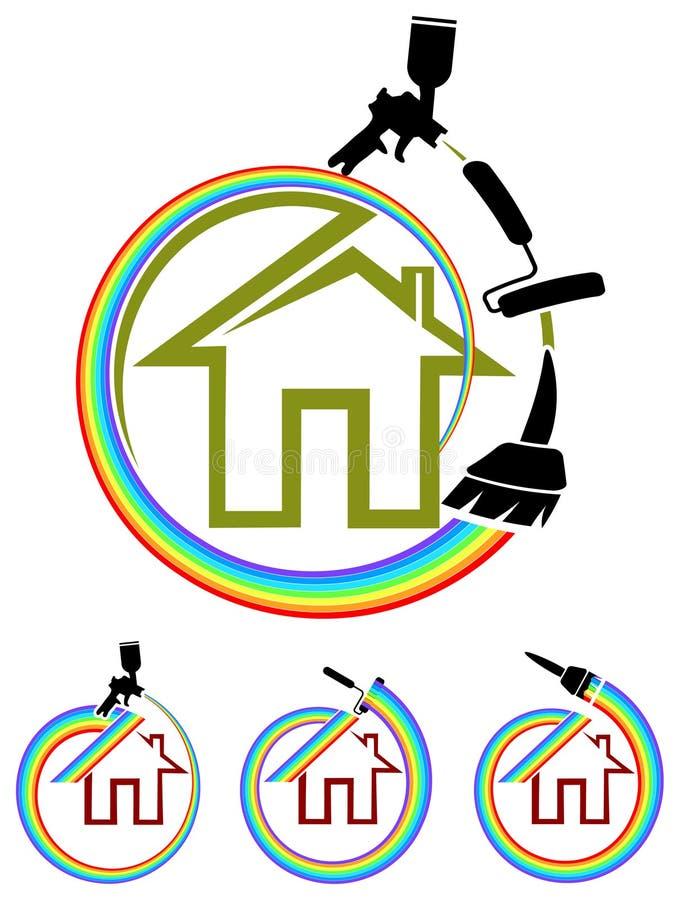 Картина дома иллюстрация вектора