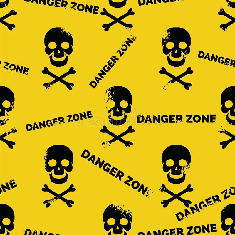 Картина опасной зоны безшовная иллюстрация штока