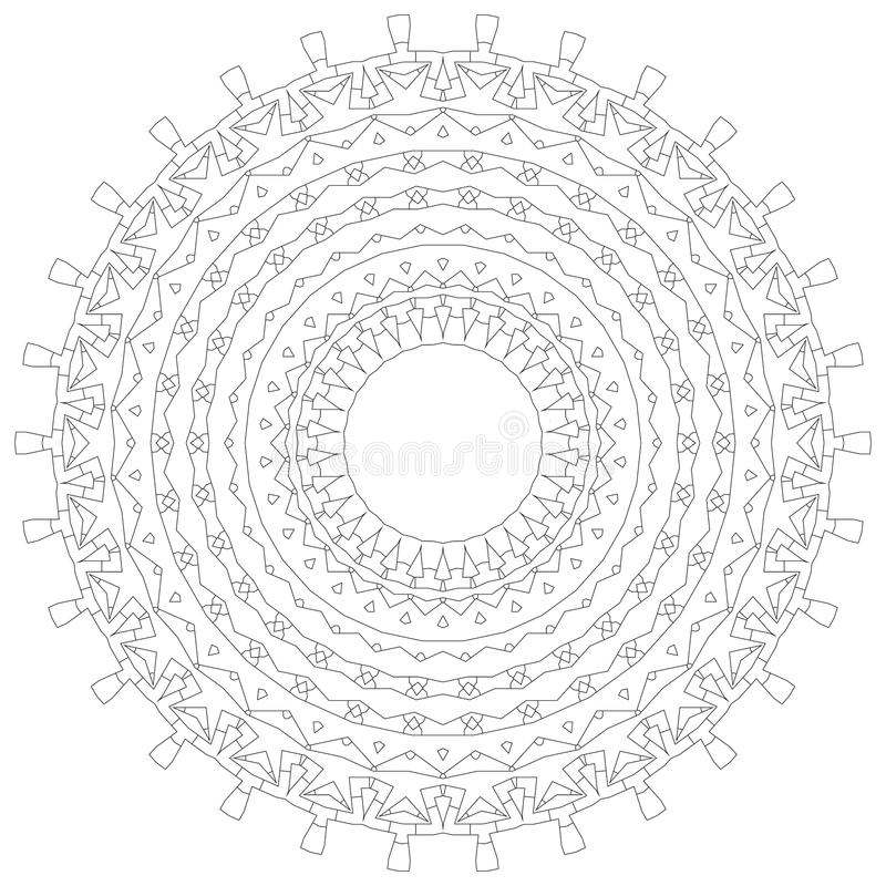 картина орнамента мандала иллюстрации круглая Круговая затейливая картина Шаблон дизайна круга шнурка Абстрактная геометрическая  стоковые изображения rf