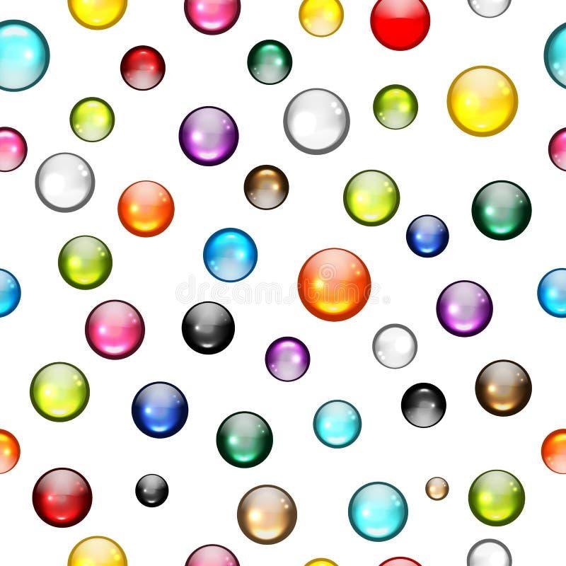 Картина лоснистых шариков безшовная для вашего дизайна иллюстрация штока