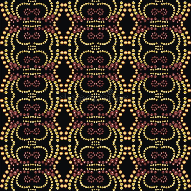 Картина от гениальных камней Красивая ткань ювелирных изделий, шаль, обои иллюстрация вектора