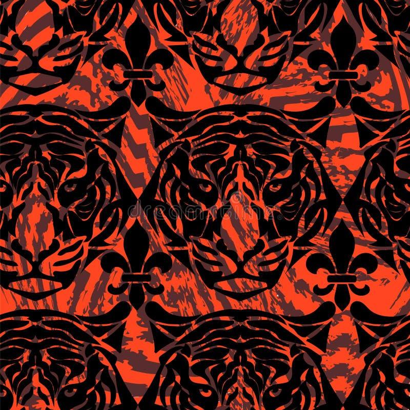 Картина от головы тигра иллюстрация вектора