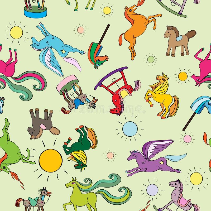 Картина лошадей игрушки иллюстрация штока
