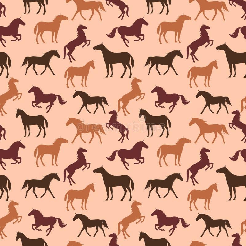 Картина лошади безшовная бесплатная иллюстрация
