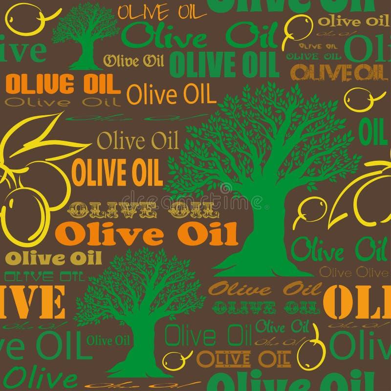 Картина оливкового масла безшовная иллюстрация вектора