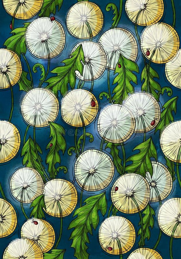Картина одуванчика стоковое изображение