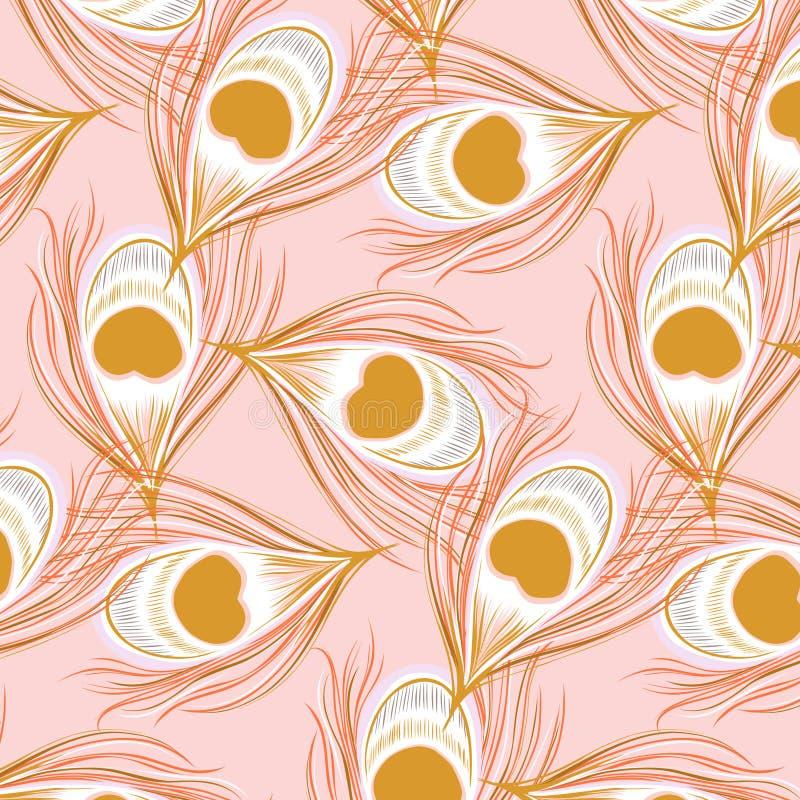 Картина павлина пинка вектора Картина коралла цветов предложения очарования Текстура природы bohemin Гаваи ботаническая Elegan бесплатная иллюстрация