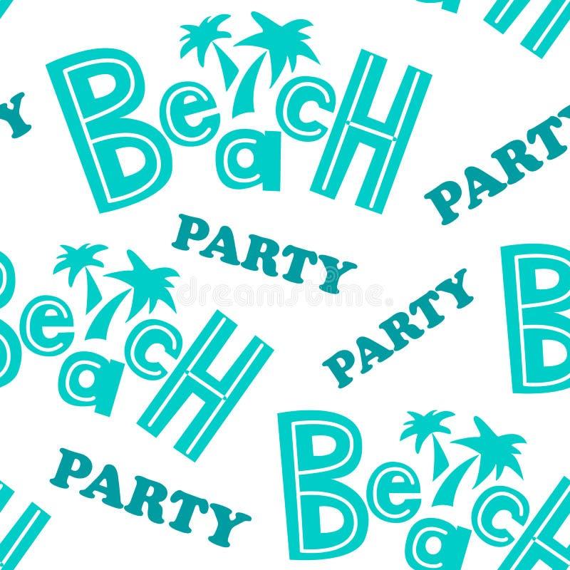 Картина партии пляжа иллюстрация вектора
