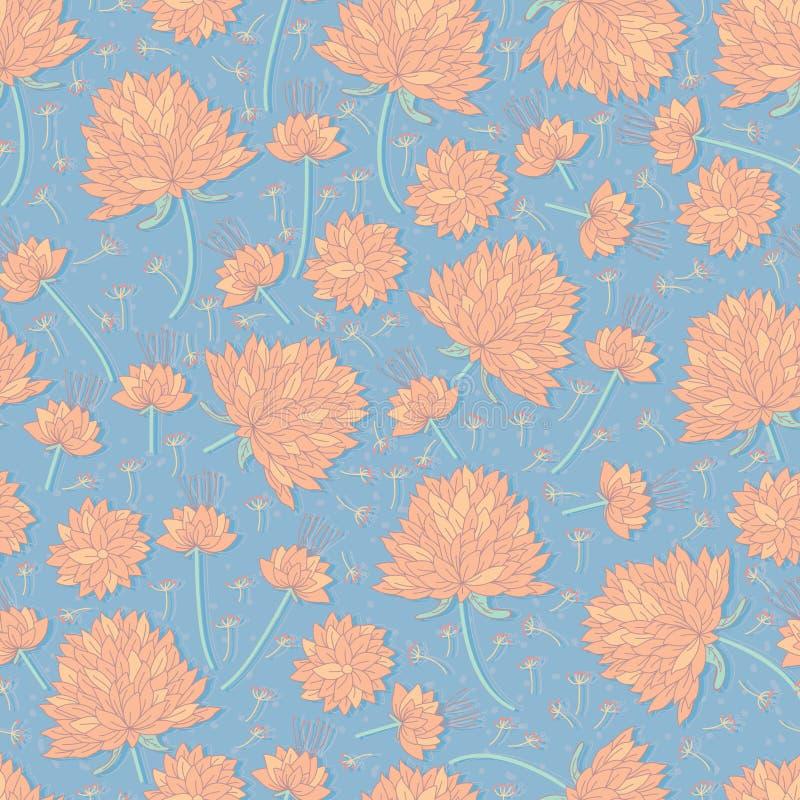 Картина пастельного цвета цветка безшовная бесплатная иллюстрация