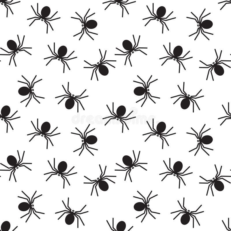 Картина пауков безшовная иллюстрация вектора