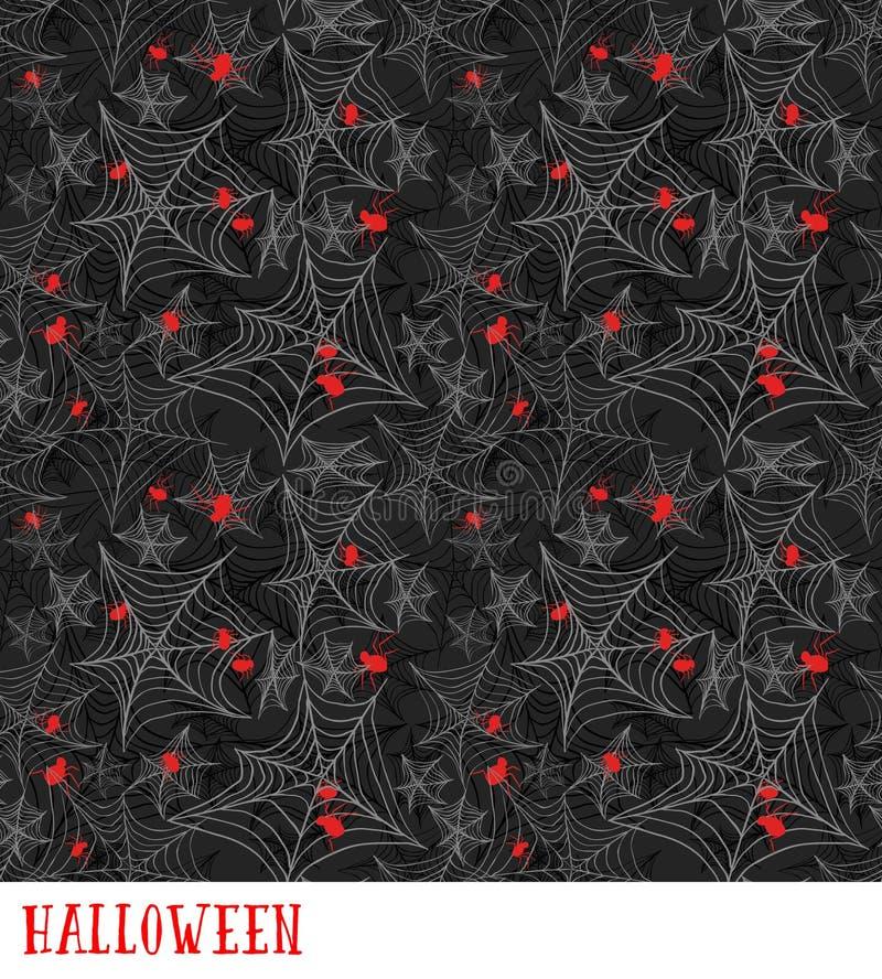 Картина паутины безшовная вектор halloween предпосылки бесплатная иллюстрация