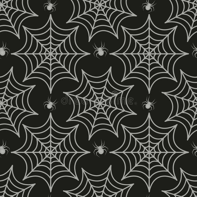 Картина паутины безшовная Текстура паука повторяющийся Предпосылка хеллоуина бесконечная также вектор иллюстрации притяжки corel иллюстрация штока