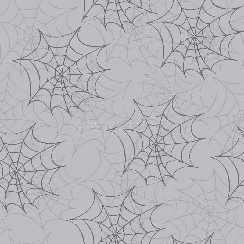 Картина паутины безшовная иллюстрация штока