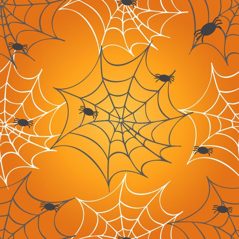 Картина паутины безшовная иллюстрация вектора