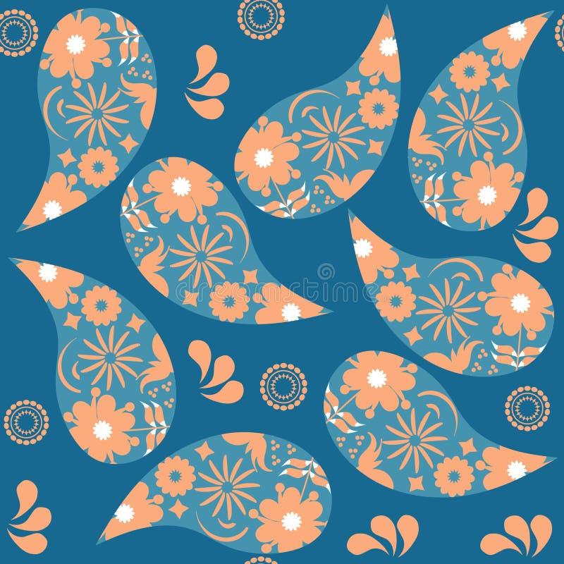 Картина Пейсли безшовная Оно расположено в меню образца, векторе Красочная текстура для дизайна Турецкое изображение огурца иллюстрация вектора