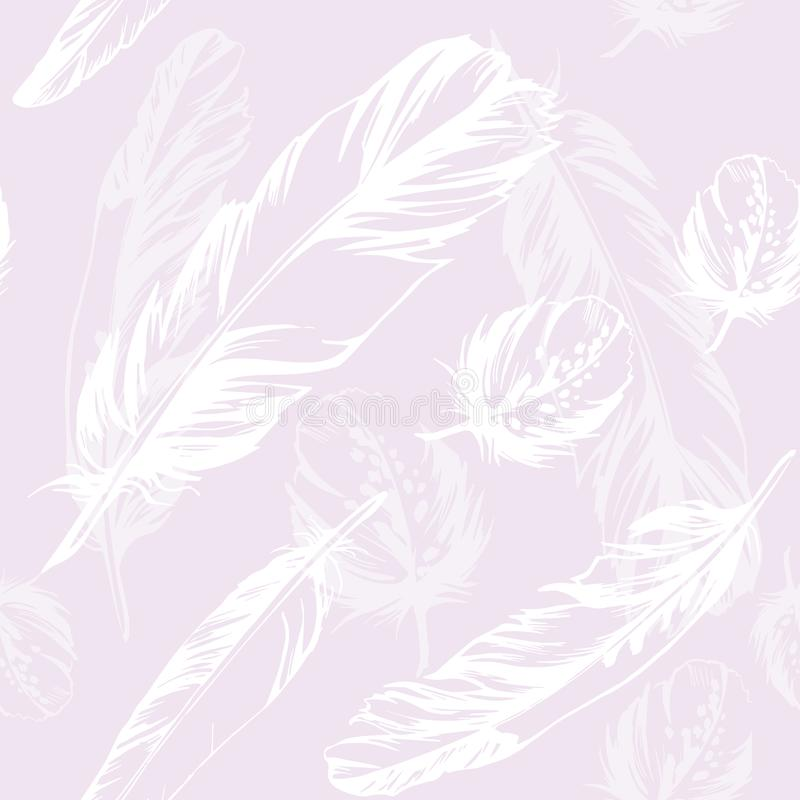 картина пера безшовная Иллюстрация пурпура вектора иллюстрация вектора