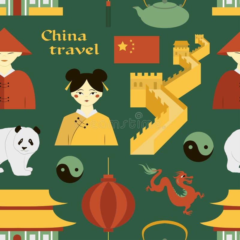 Картина перемещения Китая иллюстрация вектора