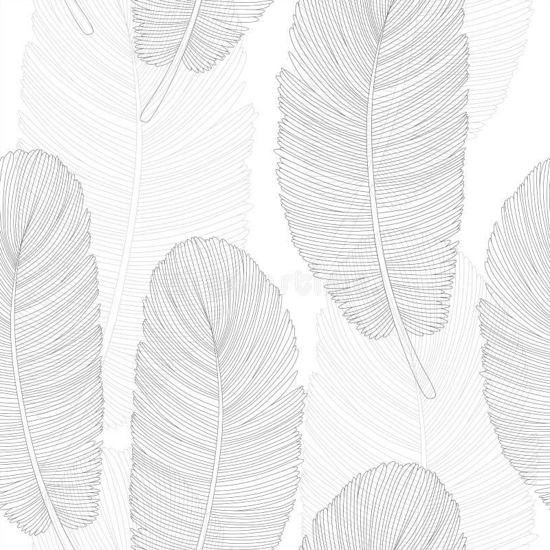 Картина пер серой шкалы перекрывая на белизне бесплатная иллюстрация
