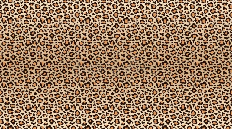 Картина печати леопарда Безшовная картина кожи леопарда Модная текстура меха гепарда иллюстрация вектора
