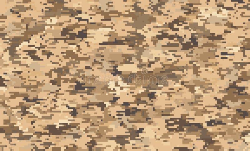 Картина пиксела камуфлирования цифров иллюстрация штока