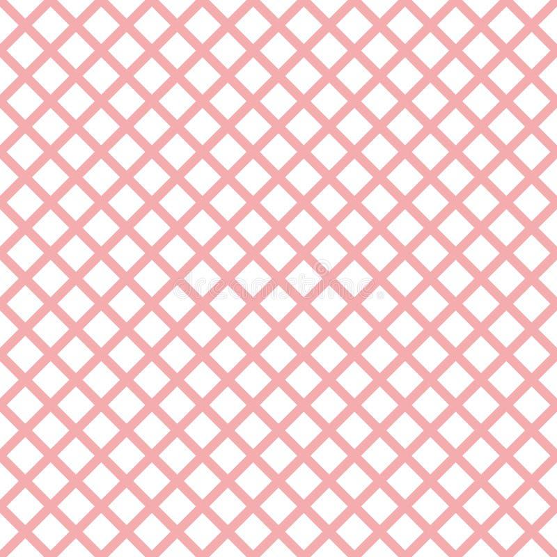 Картина пинка геометрическая безшовная с ультрамодной стильной холстинкой клетки бесплатная иллюстрация