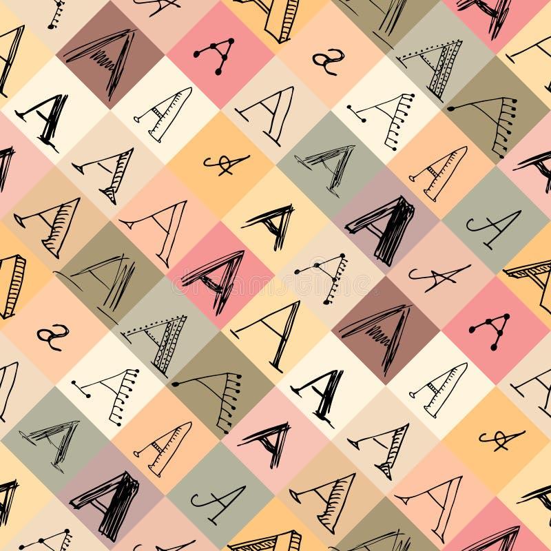 Картина письма a в различных стилях бесплатная иллюстрация