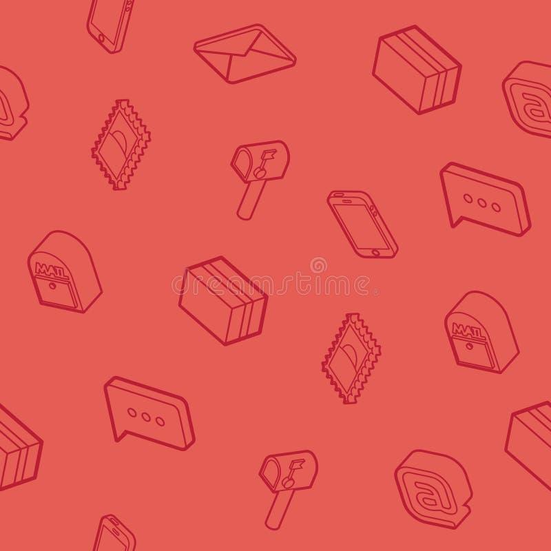 Картина плана почты равновеликая иллюстрация штока