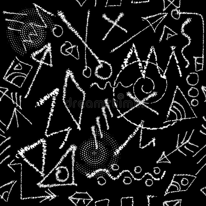 Картина племенного вектора апаша безшовная Черно-белое ornamenta иллюстрация вектора