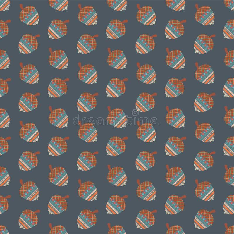 Картина племенных жолудей безшовная иллюстрация вектора