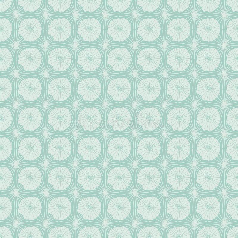 Картина повторения пастельного голубого вектора безшовная абстрактных органических форм представляя листья или медуз лотоса в бат бесплатная иллюстрация