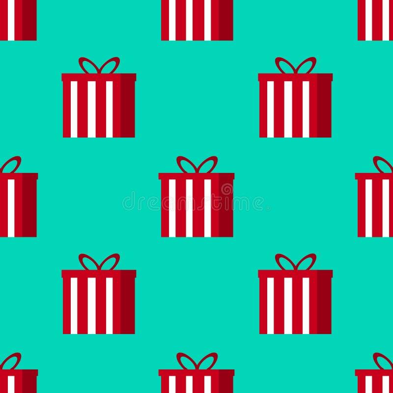 Картина подарков рождества безшовная - большая для проектов рождества и зимы, упаковочной бумаги, предпосылок, обоев бесплатная иллюстрация
