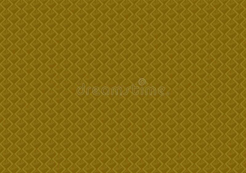 Картина покрашенная золотом проверила обои иллюстрация штока