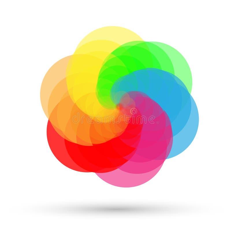 Картина покрашенного круга, предпосылка логотипа на белой предпосылке иллюстрация вектора