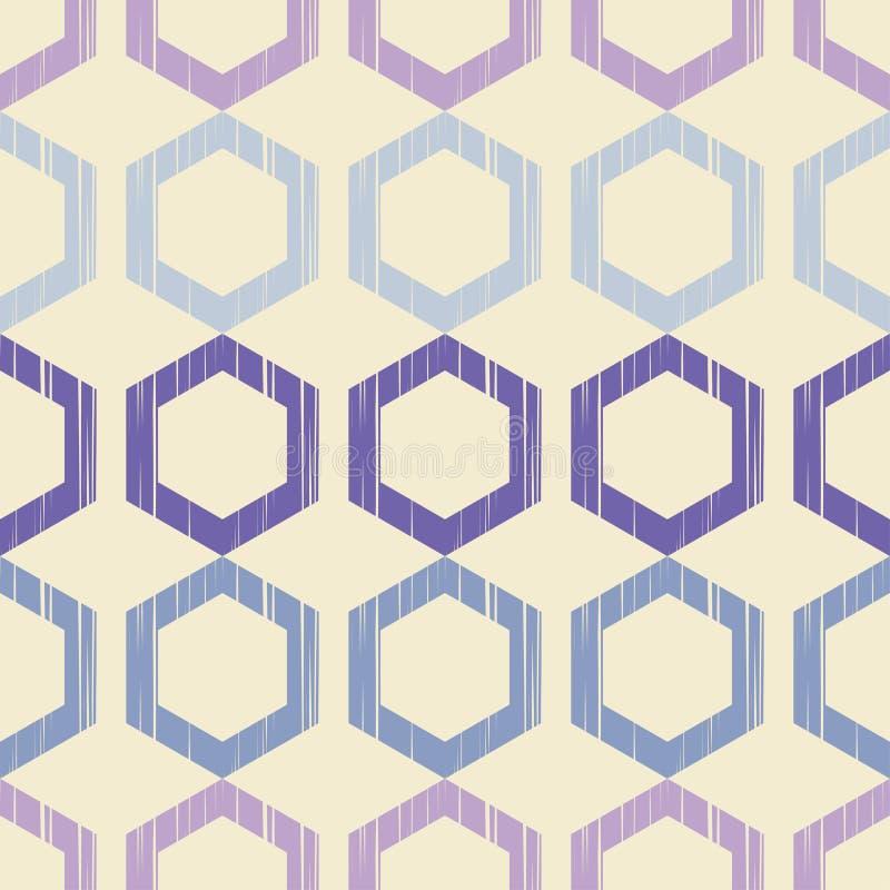 Картина покрашенных шестиугольников с брошенной текстурой Ультрамодные безшовные дизайны картины Vector геометрическая предпосылк бесплатная иллюстрация