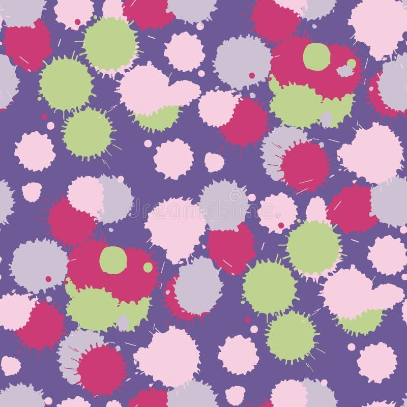 Картина помаркой ультрафиолетов безшовная иллюстрация вектора