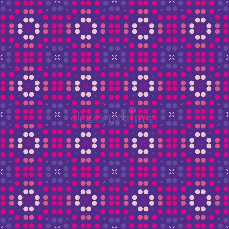 Картина поставленная точки фиолетом безшовная Геометрическая предпосылка в повторении иллюстрация вектора