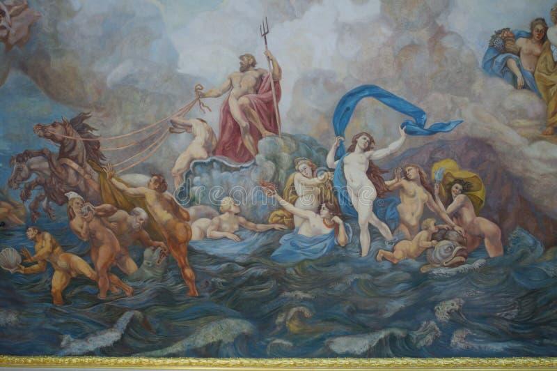 Картина потолка Marcello Bacciarelli стоковое фото rf