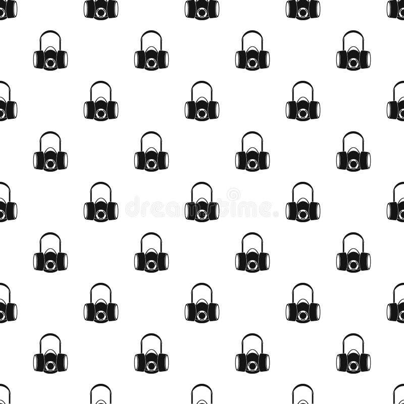 Картина половинной маски газа, простой стиль бесплатная иллюстрация