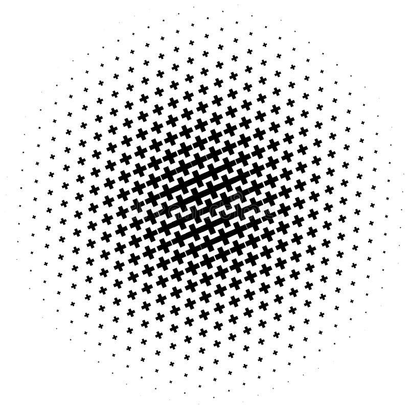 Download Картина полутонового изображения сделанная крестов Monochrome картина полутонового изображения/ Иллюстрация вектора - иллюстрации насчитывающей вектор, экран: 81812044