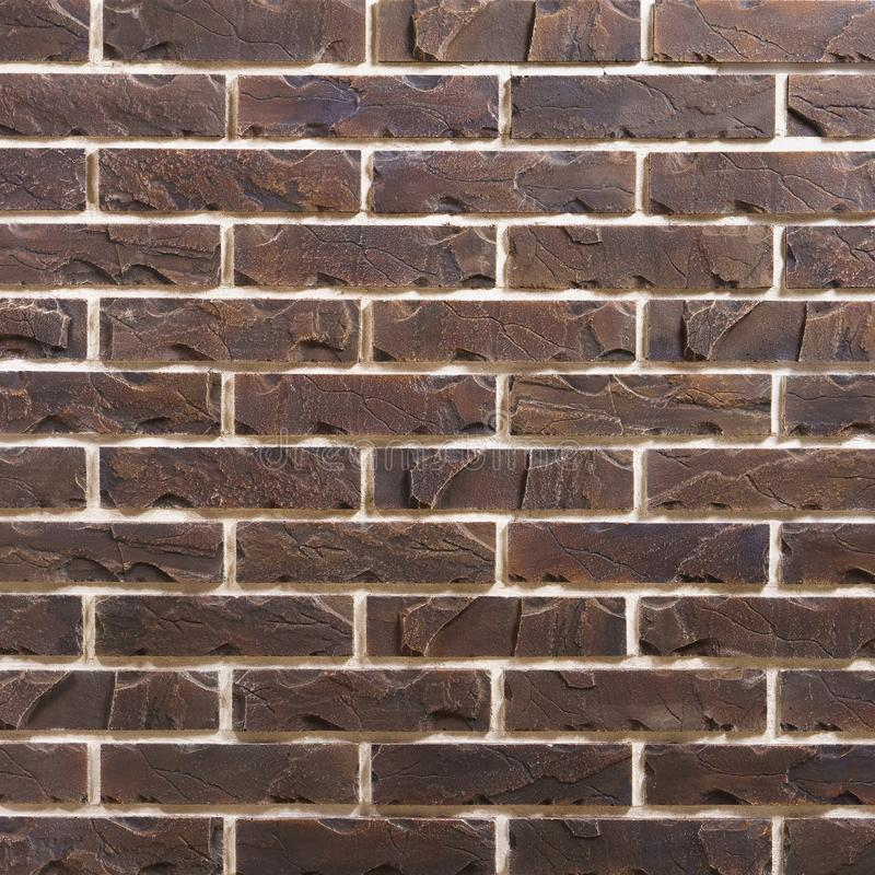 Картина предпосылки кирпича темного коричневого цвета стоковое изображение rf