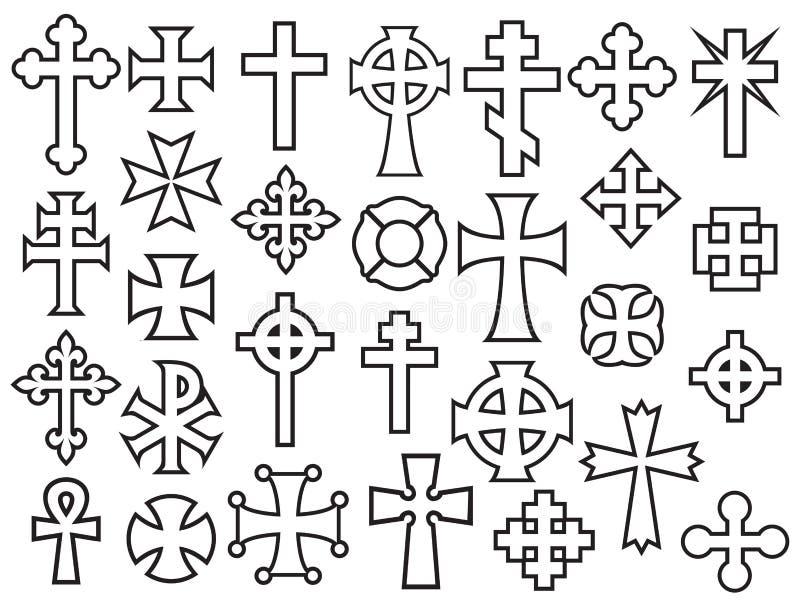 Картина предпосылки с крестами вектора иллюстрация штока