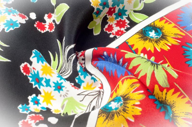 Картина предпосылки текстуры Точная silk ткань, цветочный узор te стоковые фотографии rf