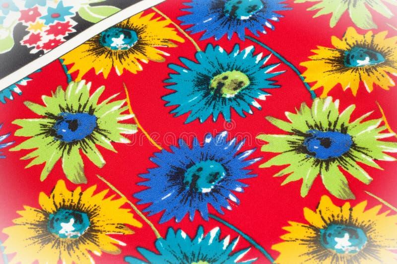 Картина предпосылки текстуры Точная silk ткань, цветочный узор te стоковая фотография rf